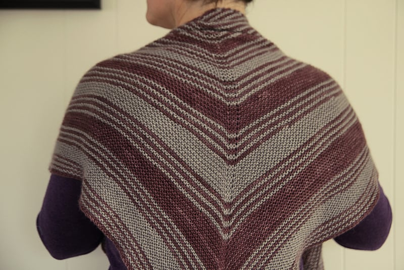 A new shawl is complete!