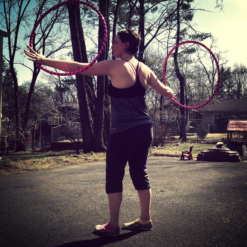 Spring and back at the hooping.