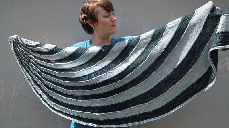 A stripy shawl perfect for cold weather. #knitting