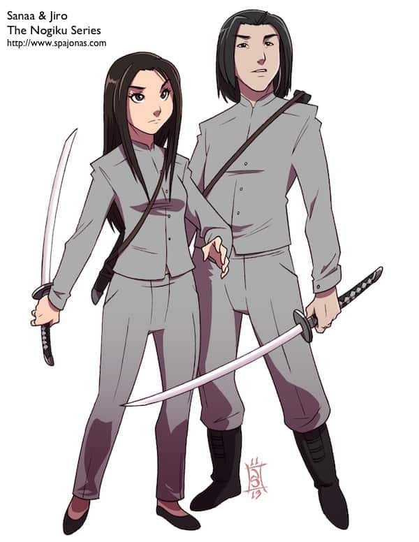 My characters in anime form!!