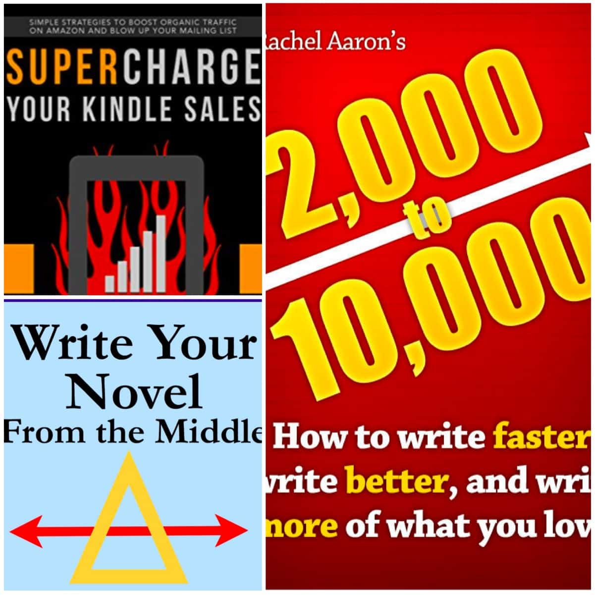 In this Book Chat, I read some non-fiction including Supercharge Your Kindle Sales by Nick Stephenson, Write Your Novel From the Middle by James Scott Bell, and 2k to 10k by Rachel Aaron