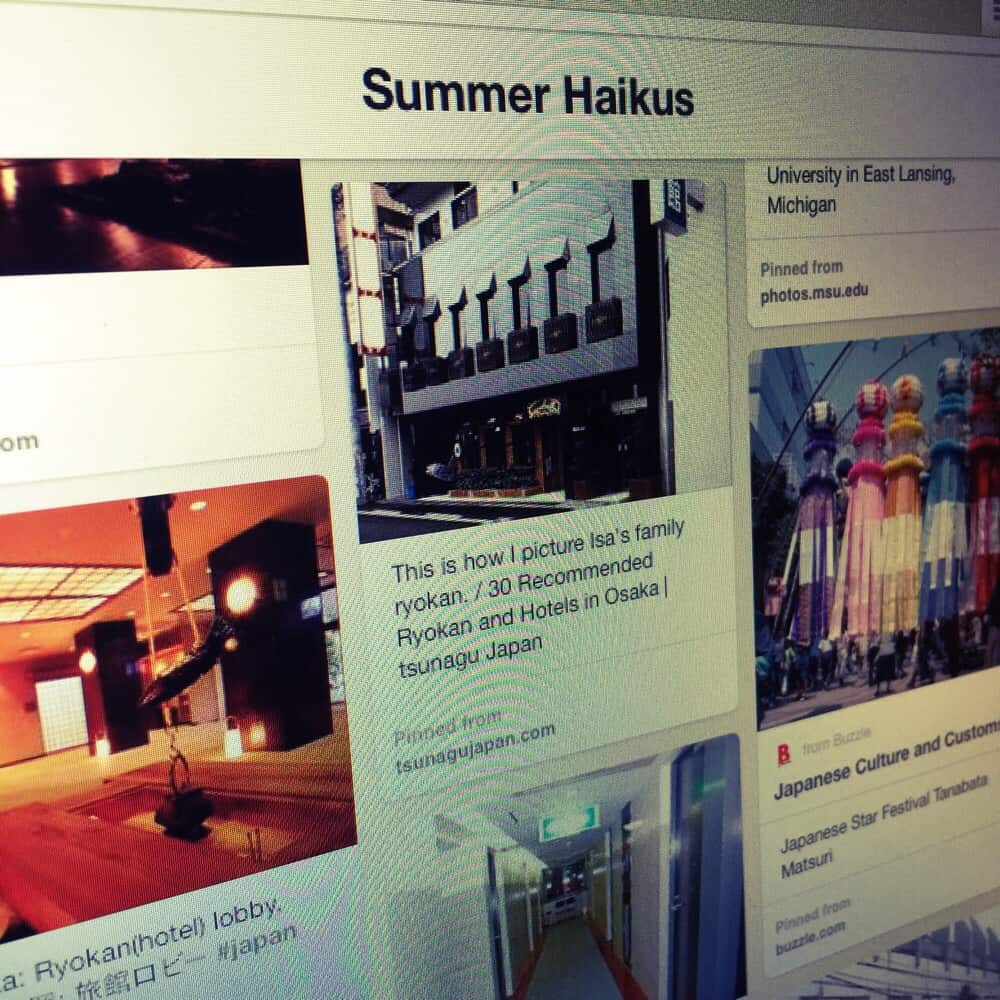 Check out the inspiration board for SUMMER HAIKUS on Pinterest!