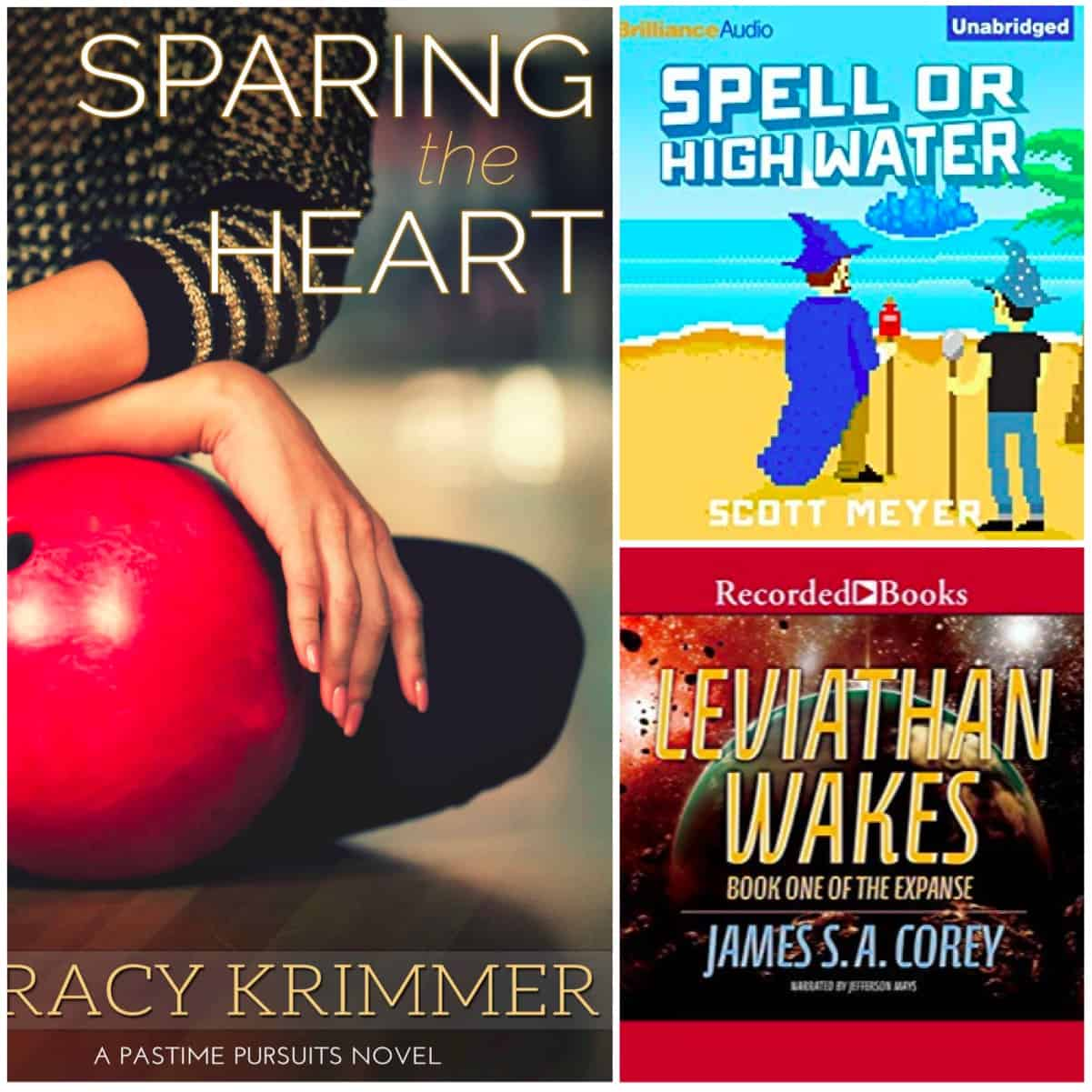 James S. A. Corey's The Expanse Series, another book in the Magic 2.0 series, and SPARING THE HEART by Tracy Krimmer.