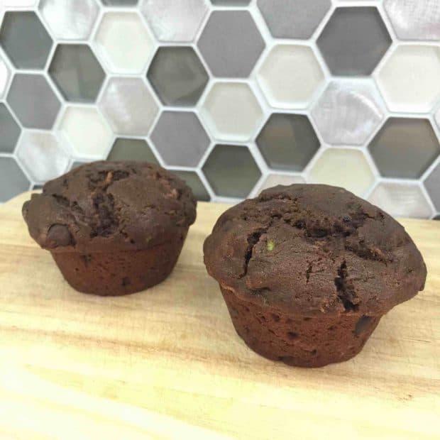 Double Chocolate Zucchini Muffins (Vegan) (With Vanilla Alternative)