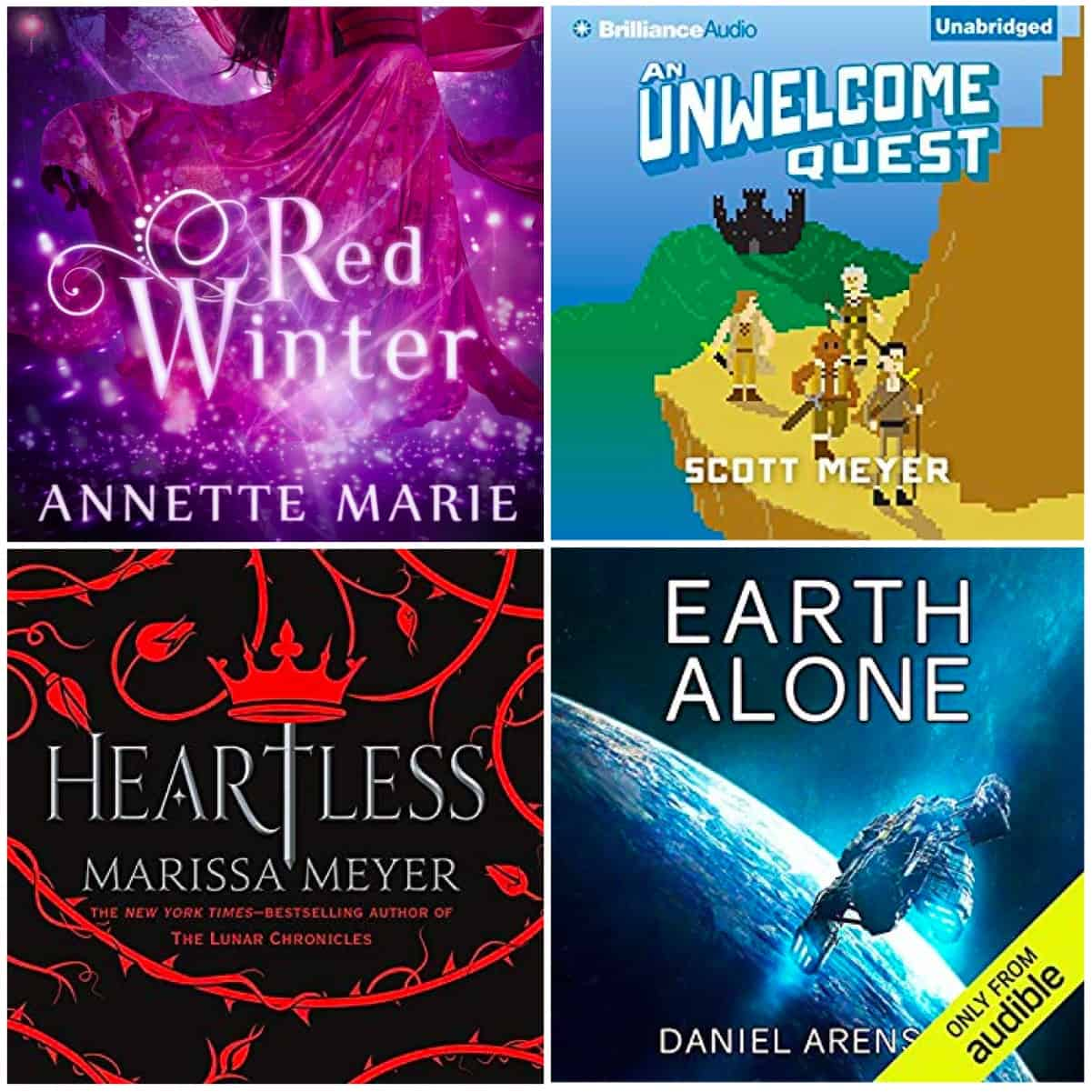 This month we have books by Annette Marie, Scott Meyer, Marissa Meyer, and Daniel Arenson. Lots read and listened to!