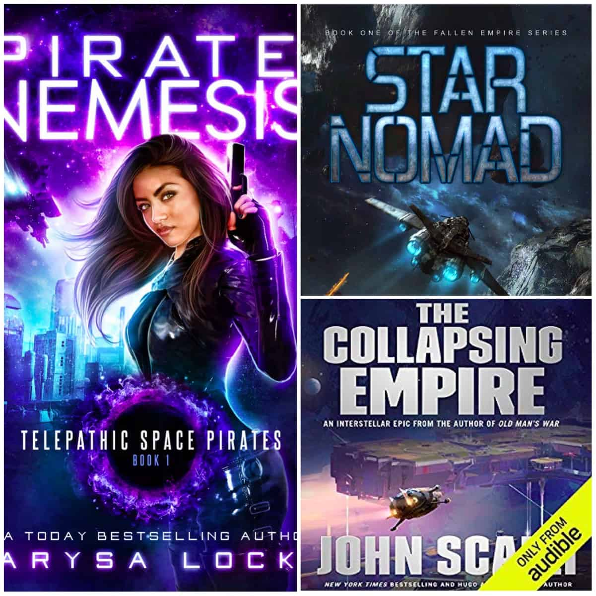 Lots of awesome sci-fi this month from Carysa Locke, Lindsay Buroker, and John Scalzi!
