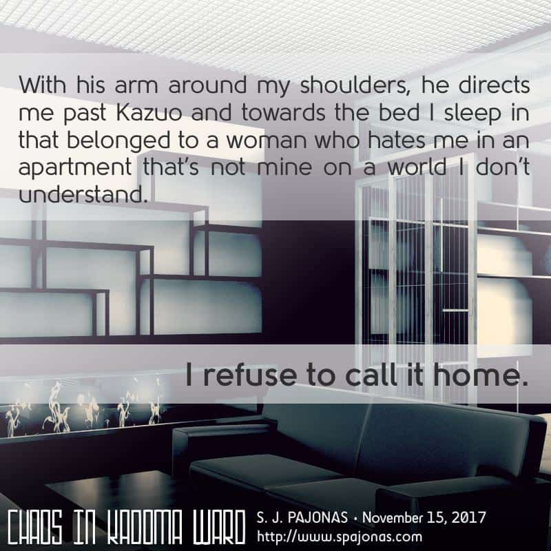It's #TeaserTuesday for CHAOS IN KADOMA WARD! Yumi is having trouble calling Hikari her home. Can you blame her?