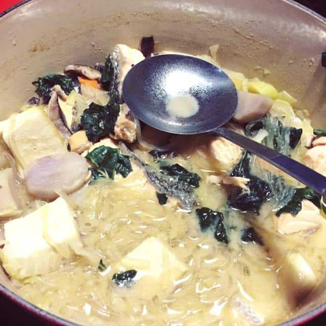 This is my favorite thing about winter! Enjoy this hot pot treat and fill up your belly with salmon soup and lots of veggies. You'll love it.