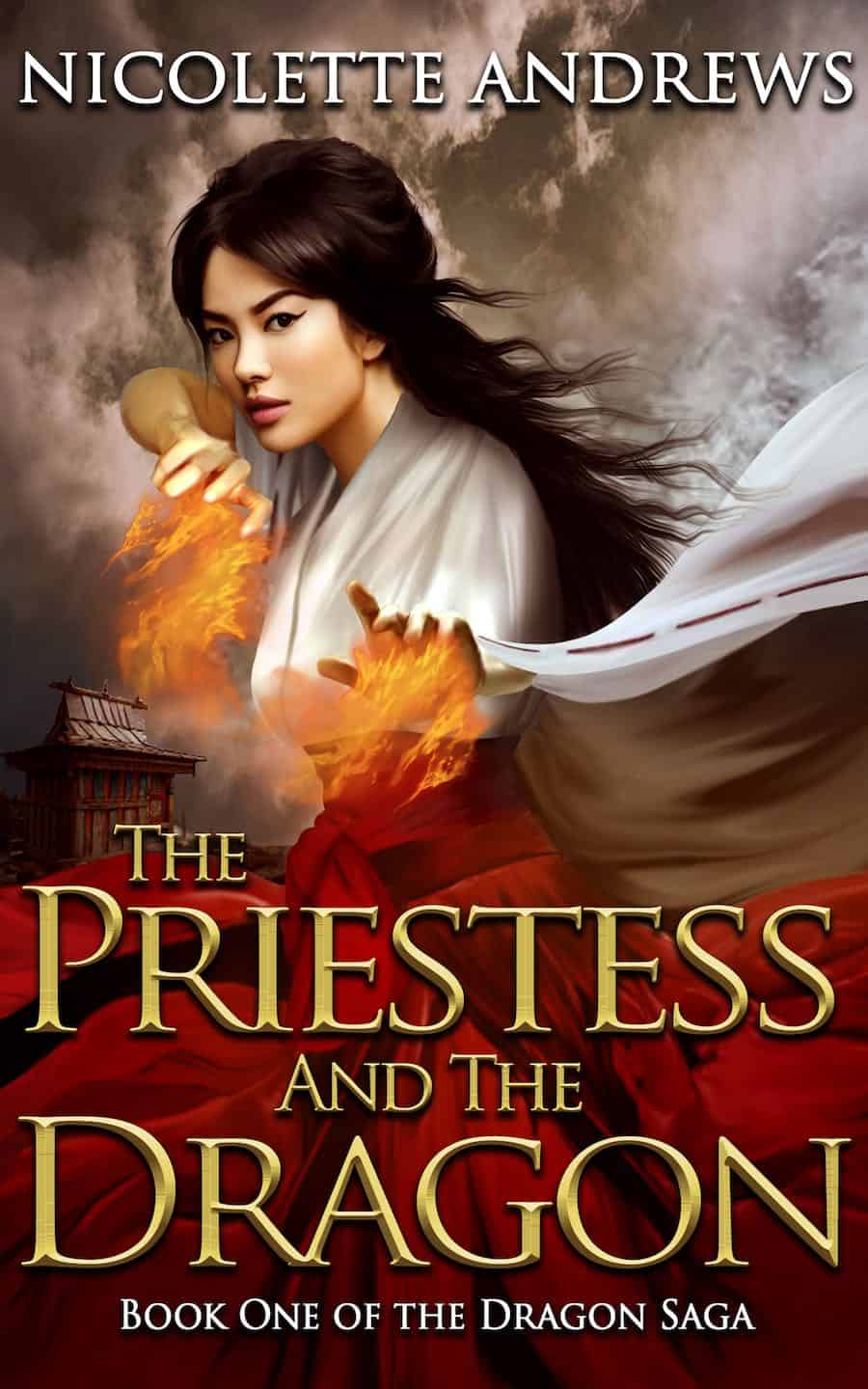 Check out this Japan-inspired fantasy, THE PRIESTESS AND THE DRAGON, from Nicolette Andrews.