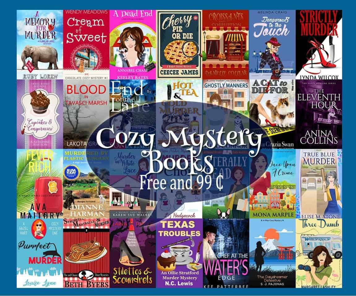 You don't want to miss this cozy mystery sale, Saturday and Sunday, February 17th and 18th! Over two dozen books priced at 99¢ and free for a limited time!