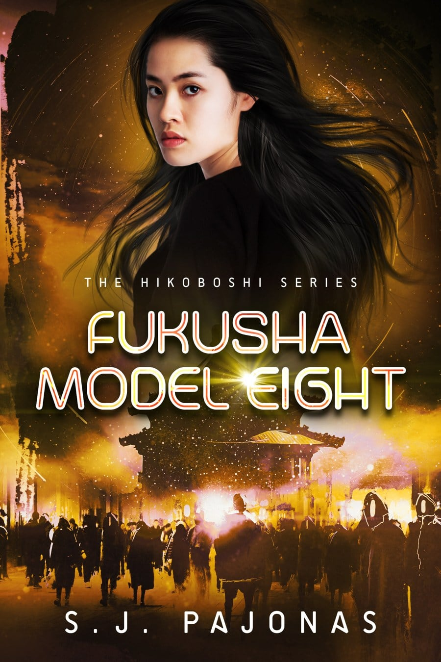 FUKUSHA MODEL EIGHT, the third book of the Hikoboshi Series, is now available on Amazon, iBooks, Nook, Kobo, and Google Play! Continue your journey across Hikari with Yumi today!