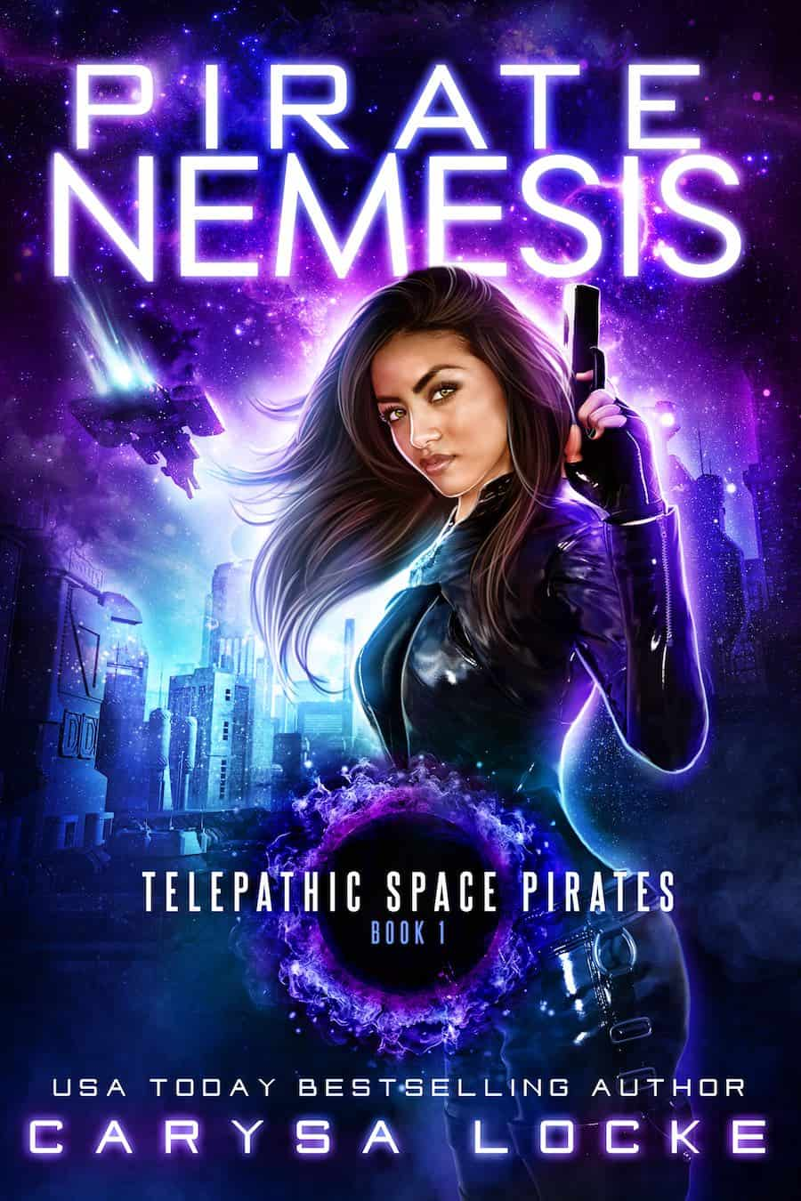 """Check out this exciting science fiction novel, PIRATE NEMESIS, by Carysa Locke. """"Killers. Thieves. Pirates. Family..."""""""