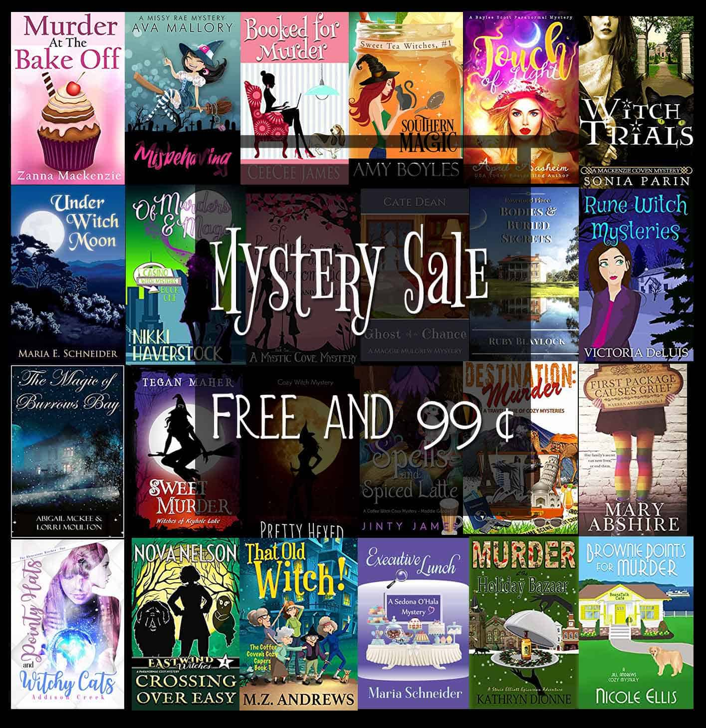 A selection of cozy and paranormal cozy mysteries on sale today, tomorrow, and Sunday!