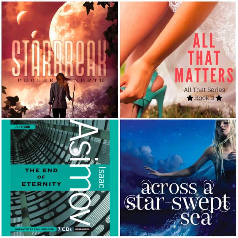 In this Book Chat, we have my end-of-summer reading! STARBREAK by Phoebe North, ACROSS A STAR-SWEPT SEA by Diana Peterfreund, ALL THAT MATTERS by Tracy Krimmer, and END OF ETERNITY by Isaac Asimov.