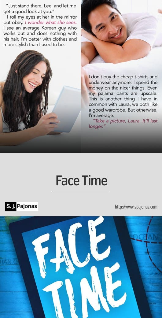 Can the picture on your screen ever be as good as the real thing? FACE TIME is a funny, romantic, modern-day story about two people who connect across the world. #romance #ebook #diverselit