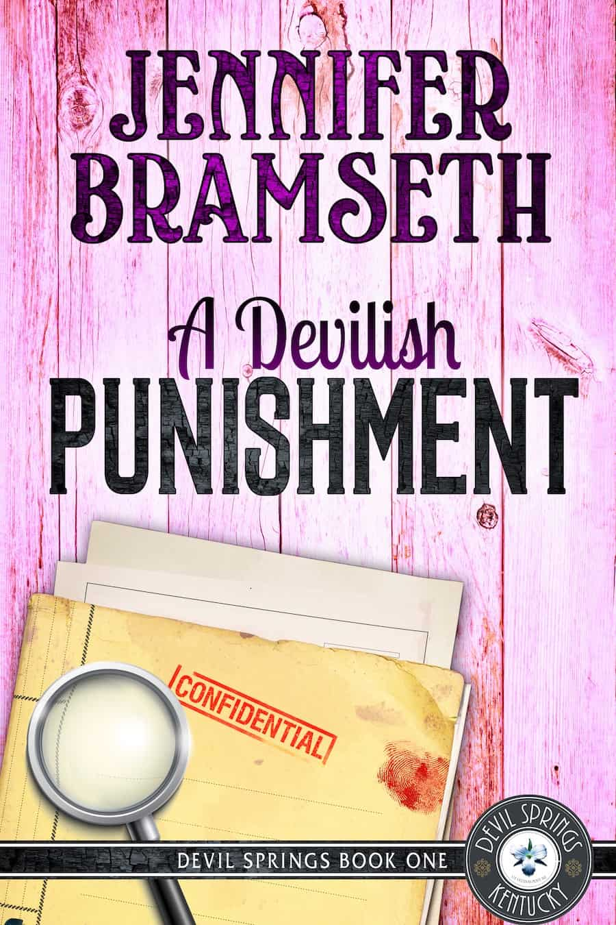 """Check out this exciting cozy mystery, DEVILISH PUNISHMENT by Jennifer Bramseth. """"Prosecuting a pervert. A dead mentor. A new boss. What else could go wrong?"""""""