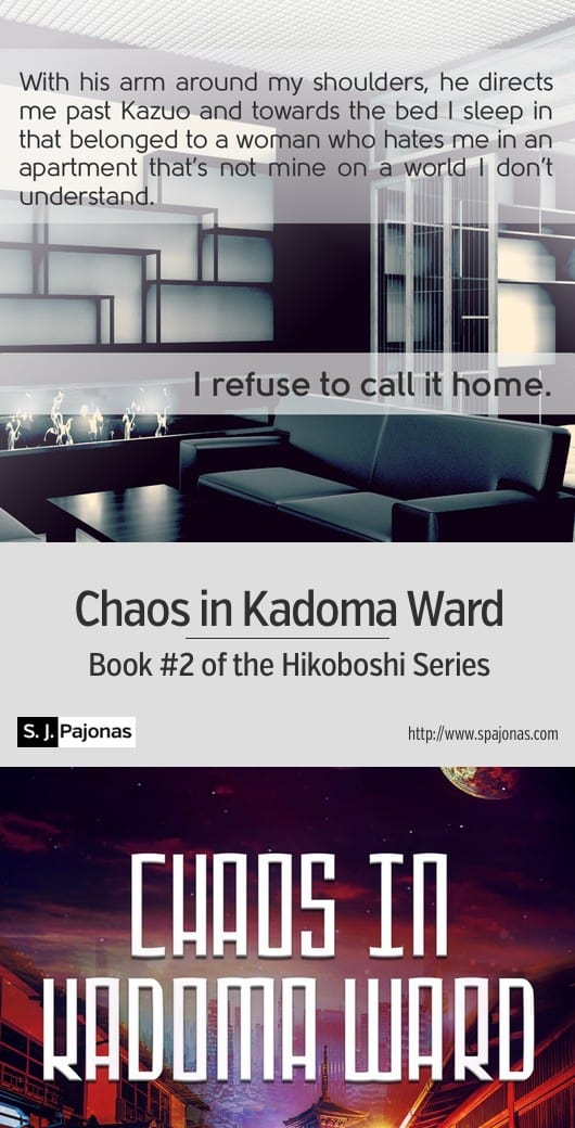 A futuristic caste system and standings based on your merits... Yumi is owned by a corporation. A mix of Japanese culture with a futuristic/sci-fi world, CHAOS IN KADOMA WARD is the second book of the Hikoboshi Series. #scifi #ebook #sciencefiction