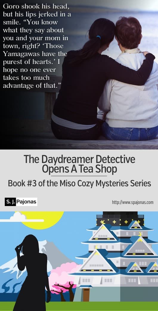 Mei's dream of success is almost realized until Yasahiro's ex-fiancée is murdered! THE DAYDREAMER DETECTIVE OPENS A TEA SHOP is the third book in the Miso Cozy Mysteries Series. #ebook #mystery #cozymystery #japan
