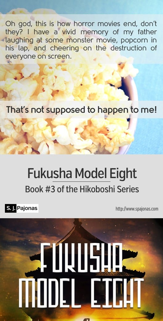 Yumi is pretty sure someone's trying to kill her... and she can't remember who. A mix of Japanese culture with a futuristic/sci-fi world, FUKUSHA MODEL EIGHT is the third book of the Hikoboshi Series. #scifi #ebook #sciencefiction