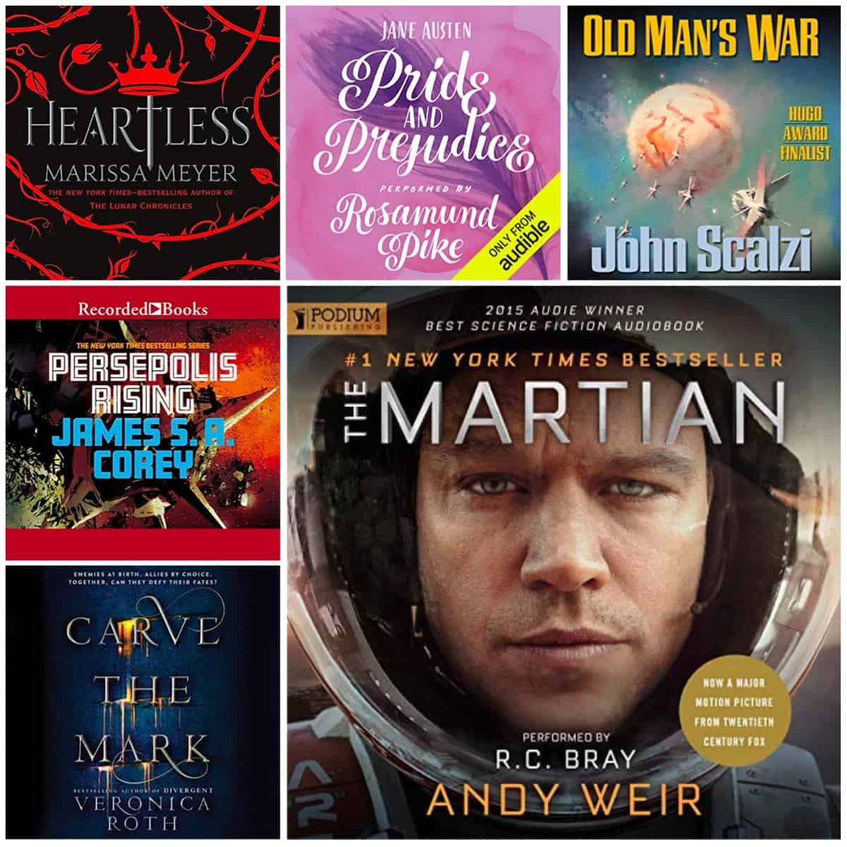 My favorite audiobooks, narrators, and more!
