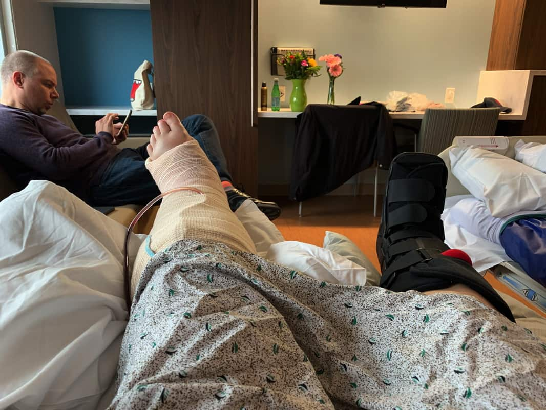 All the things that happened in the week ending March 24, 2019 including my broken leg, fractured foot, and everything that went with that.