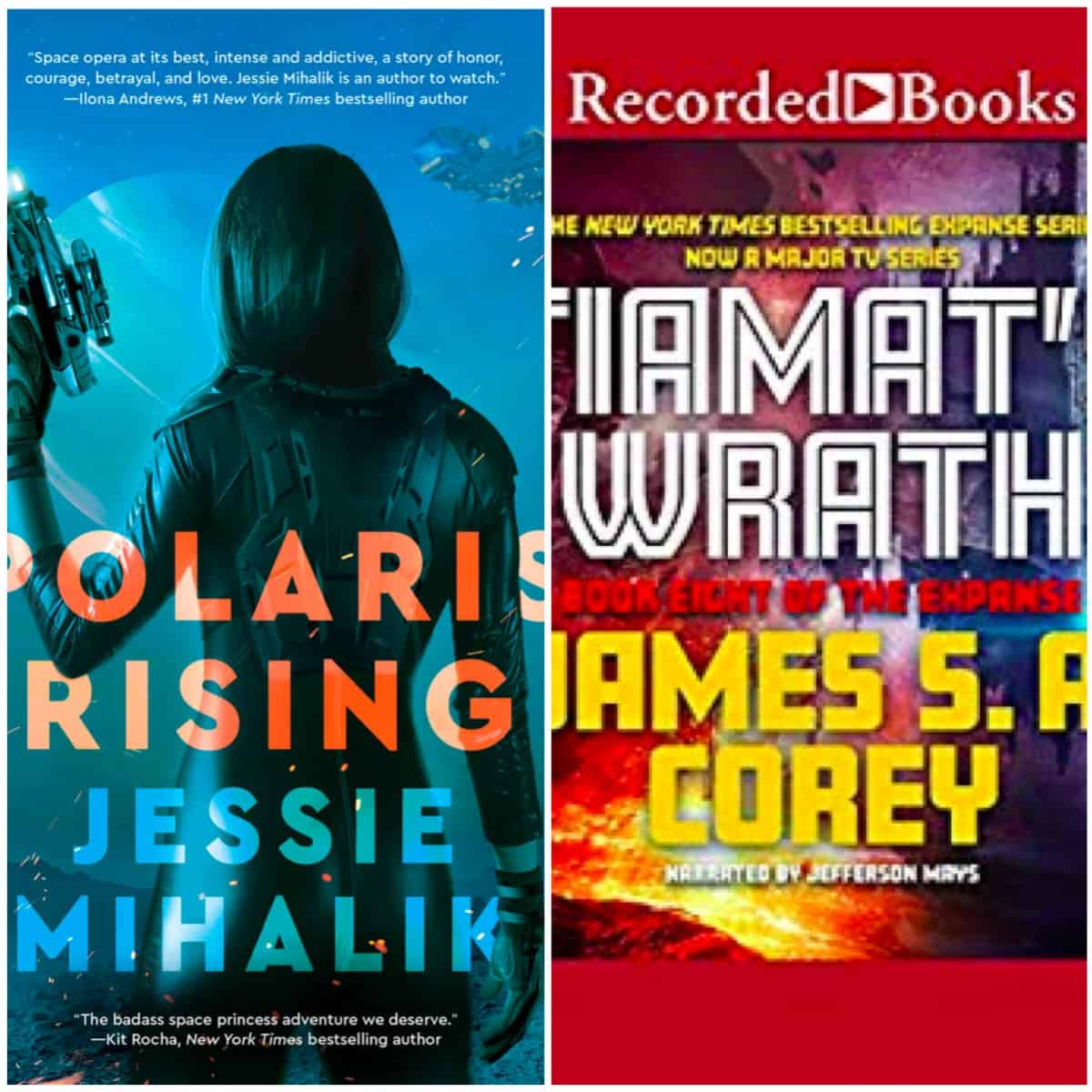 In this Book Chat, I gush over POLARIS RISING by Jessie Mihalik and TIAMAT'S WRATH by James S. A. Corey.