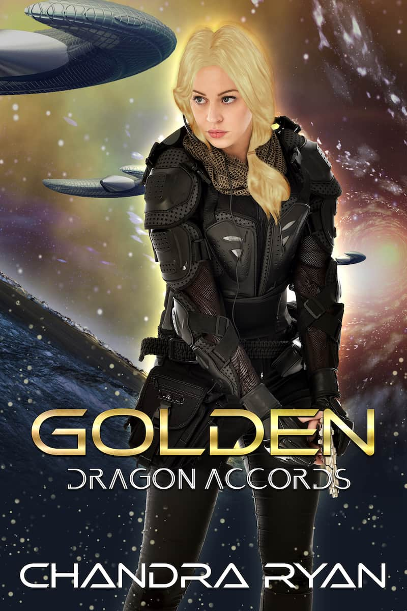 "Check out this reverse harem sci-fi romance, GOLDEN by Chandra Ryan. ""Mesha has lived with one truth: Dragons are the enemy..."""