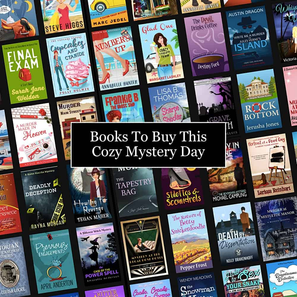 Check out these great cozy mysteries that are on sale or free for Cozy Mystery Day!