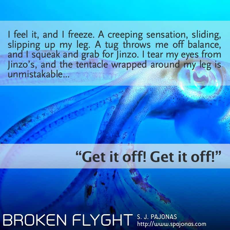 In this Teaser Tuesday for BROKEN FLYGHT, Vivian gets entangled with the local wildlife of Rio.