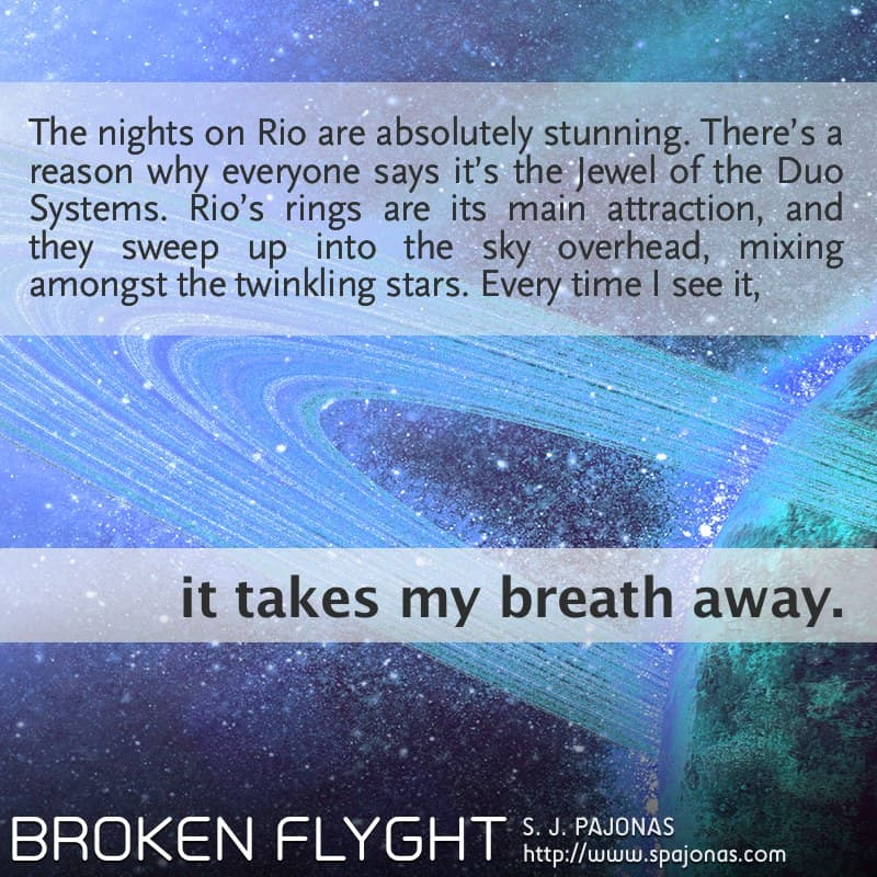 In this Teaser Tuesday for BROKEN FLYGHT, Vivian is entranced by the beauty of Rio.