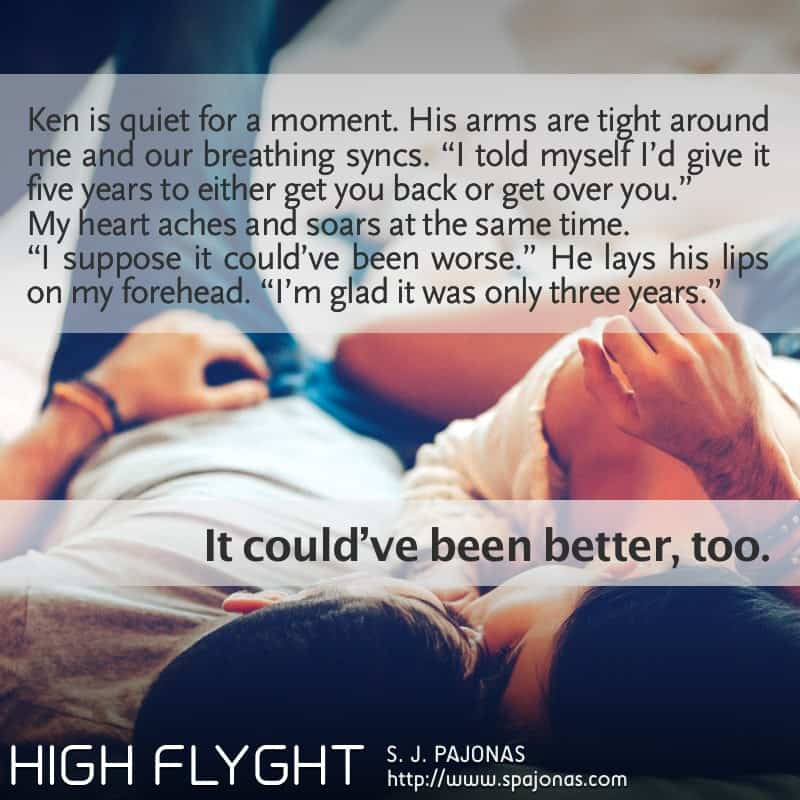 It's Teaser Tuesday for HIGH FLYGHT, the third book of the Flyght Series! A romantic moment with Ken...