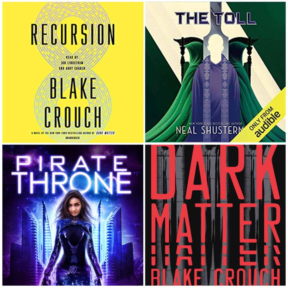 In this Book Chat, our last of 2019, two great thrillers from Blake Crouch, space pirates from Carysa Locke, and fantastic YA sci-fi from Neal Shusterman.