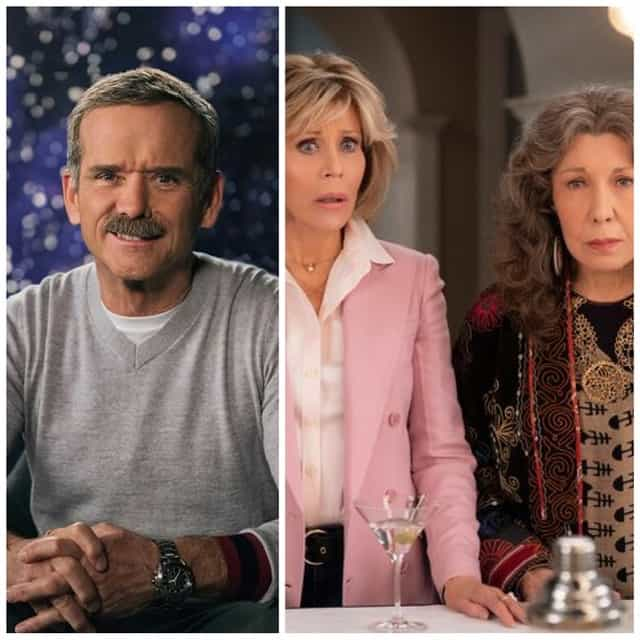 I'm watching some great content right now including Grace and Frankie on Netflix and Chris Hadfield Teaches Space Exploration on Masterclass.