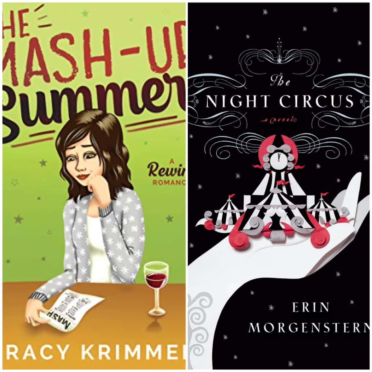 In this Book Chat, THE MASH-UP SUMMER by Tracy Krimmer and THE NIGHT CIRCUS by Erin Morgenstern.